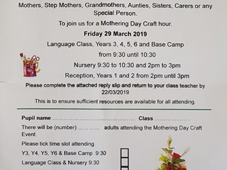 Mothering Sunday Event